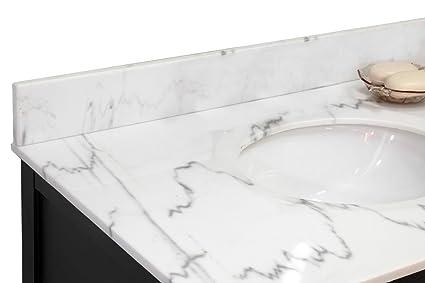 Bellaterra Home BACKSPLASHWM Backsplash White Marble - 36 inch marble tile