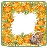 Thanksgiving Paper Plates Turkey Table Decorations Dessert Plate Pk 16