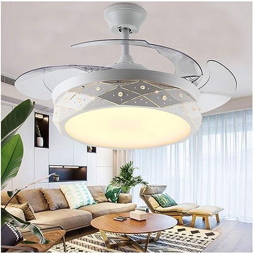 H.L - Ventilador de Techo Plegable luz de Techo de 42 Pulgadas ...