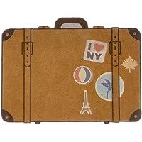 Balvi Zerbino Luggage Colore Marrone Tappeto da Interno o da Esterno. Polyestere/Plastica PVC 49x65 cm
