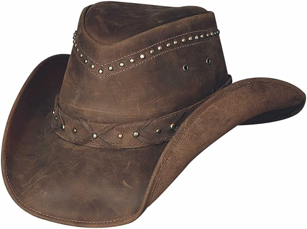 """Bullhide """"Burnt Dust"""" Leather Outback Hat from the Down Under Collection"""