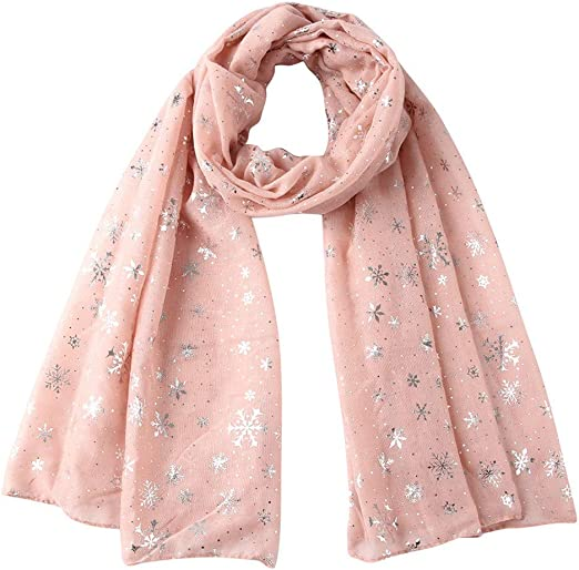 Hot Pink Solid Color Infinity Chiffon Scarf for Women Mothers day Gift