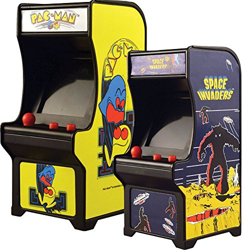 - Johnson Smith Co. (Set) Miniature Classic Handheld Arcade Games Pac-Man and Space Invaders