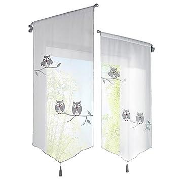 Hoomall 1pc Décoration De Fenêtre Voilage Brise Bise Rideau Pompon