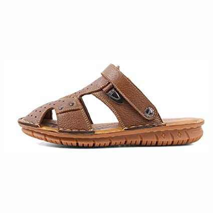 4dcbcfd52 Amazon.com   YaXuan Leather Men s Sandals