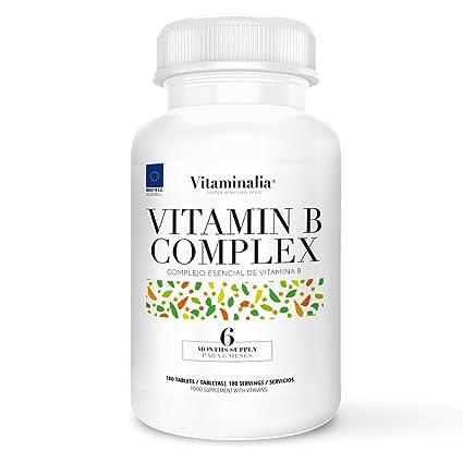 Vitamin B Complex | Suministro para 6 Meses (180 Comprimidos) | Vitaminas del Grupo B (B1, B2, B3, B5, B6, B7 o Biotina, B9, B12)  + B10 (PABA o ácido ...