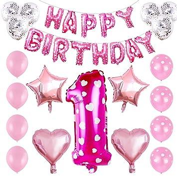32pcs feliz cumpleaños globos establece globos de película ...
