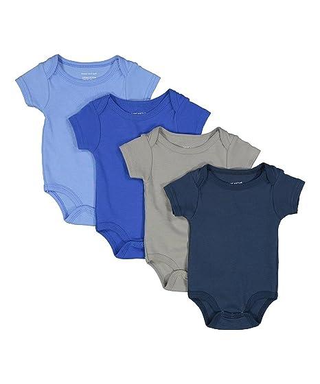 Amazon Com Sweet Soft Baby Boys 4 Short Sleeve Solid Bodysuit