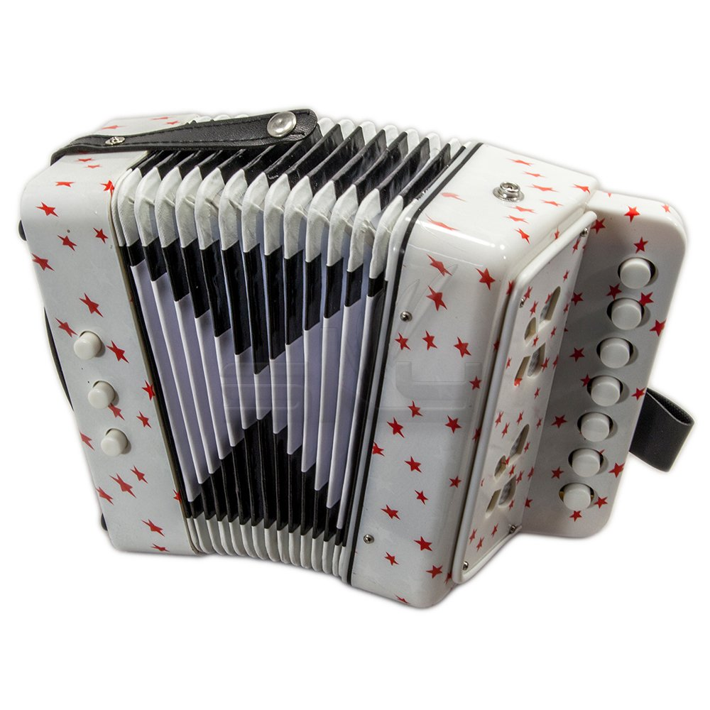B018A4GDW6 SKY Accordion Star Pattern 7 Button 2 Bass Kid Music Instrument Easy to Play 614HNFHqkmL