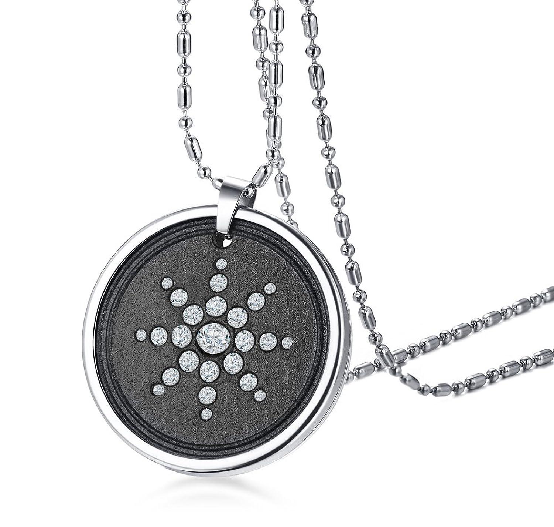 MP Lava Bio Scalar Energy Quantum Crystal Pendant Necklace Health Care for Men Boy,Free Chain & Box