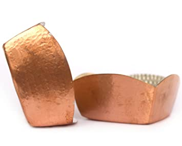 Amazon de kulture works copper bowl hammered square set of 2 de kulture works copper bowl hammered square set of 2 35x15 lh negle Image collections