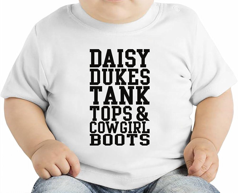 Daisy Dukes Tank Tops & Cowgirl Boots Slogan Camiseta orgánica bebés 6-12 Months: Amazon.es: Ropa y accesorios
