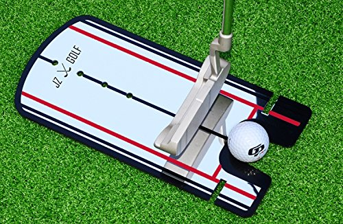 JZ Golf Golf Putting Alignment Mirror Training Aid with Carrying Case (Red) by JZ Golf