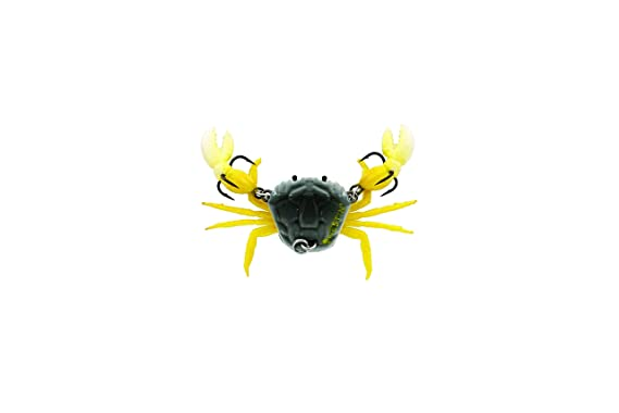 SUPER CRAB YELLOW FRESH/&SALT WATER GAME FISH BROWN,TREBLE HOOK CRAFTED