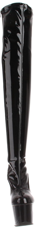 Pleaser Women's Adore-3000/B/M Above-the-Knee US|Black Boot B000YR0TLE 9 B(M) US|Black Above-the-Knee Patent 41c100