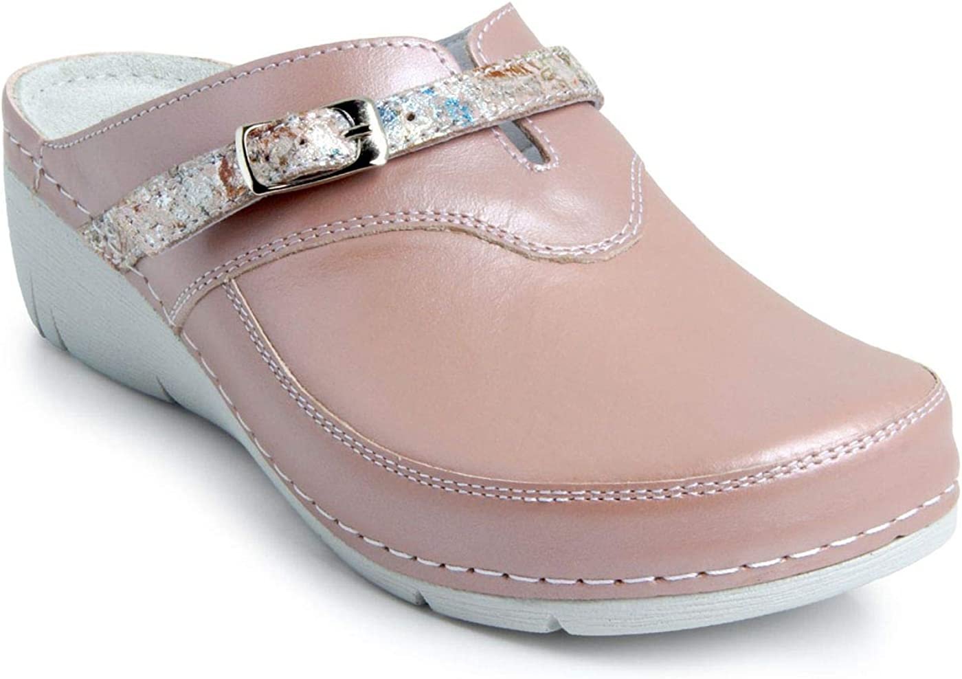 Batz Lisa Ligero y Flexible Zuecos Zapatillas Zapatos de Cuero Mujer