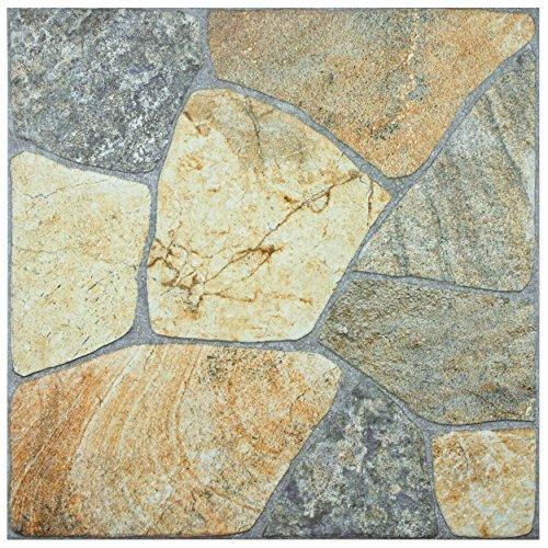 SomerTile FCG18ERS Albe Porcelain Floor and Wall Tile, 17.375