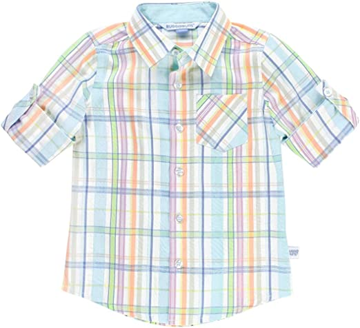 RuggedButts Baby//Toddler Boys Short Sleeve Button Down