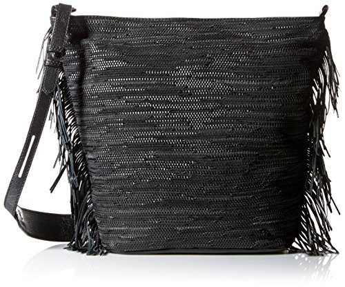 Elliott Lucca Bali '89 Marin Bucket Hobo Bag, Black Melaya, One (Lucca Woven Leather)