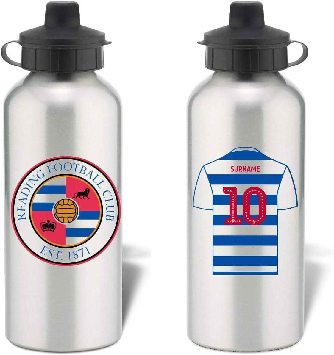 Botella de agua deportiva de aluminio personalizable Reading FC Shirt