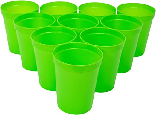 Color Plastic Cups Party Picnic Disposable Assorted 16oz 100 Count Drink Beer US