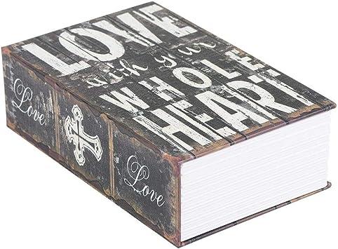 Bible Book Safe Storage Box 18x11.5X5.5cm Safe Box Paper Book Locking Booksafe Box