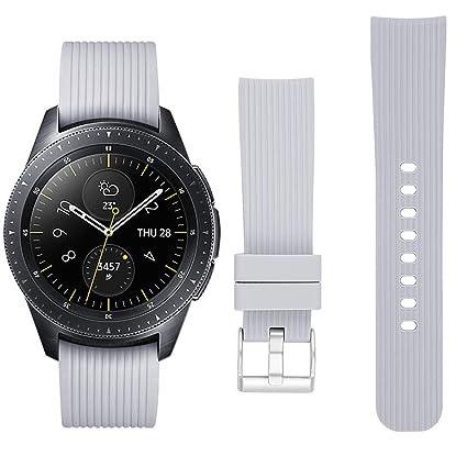 ECSEM Compatible with Garmin vivomove HR Band Sport Band Premium Soft Silicone Replacement Band Breathable Strap Wristband for Vivomove HR/Vivoactive ...