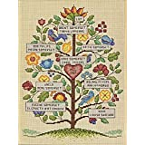 Dimensions Needlecrafts Counted Cross Stitch Kit, Vintage Family Tree