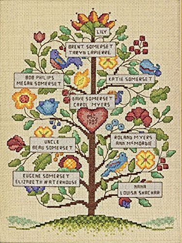 Dimensions Vintage Family Tree Counted Cross Stitch Kit 9