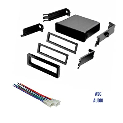 ASC Car Stereo Dash Install Pocket Kit and Wire Harness for Installing a Single Din Radio for some Toyota- see below: Car Electronics [5Bkhe0812318]