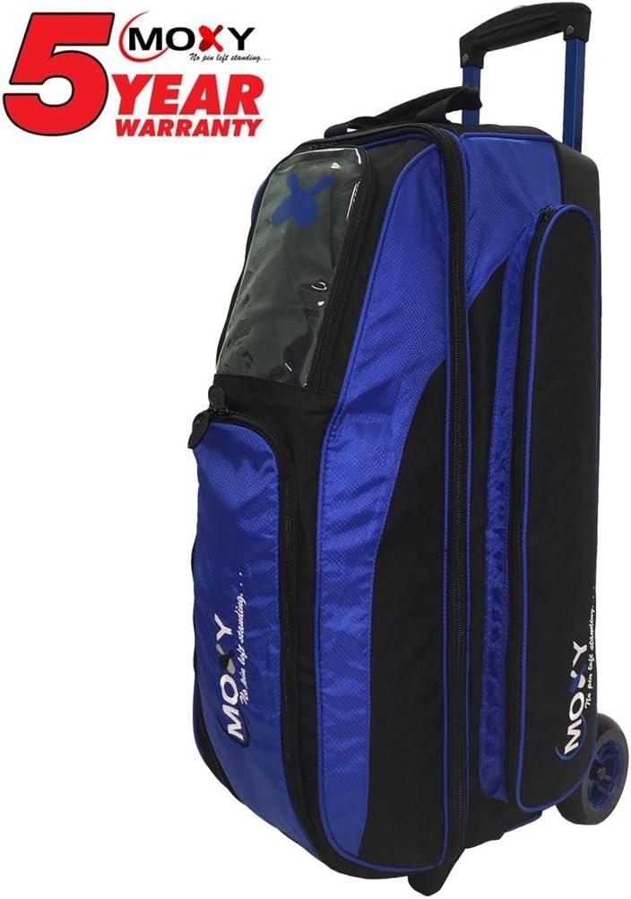 MoxyブレードトリプルローラーBowling bag-ロイヤル/ブラック