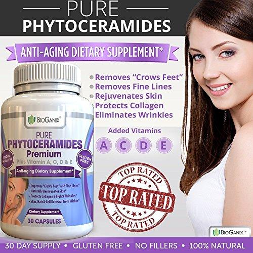 Bioganix Natural Phytoceramide Capsules Supplement For