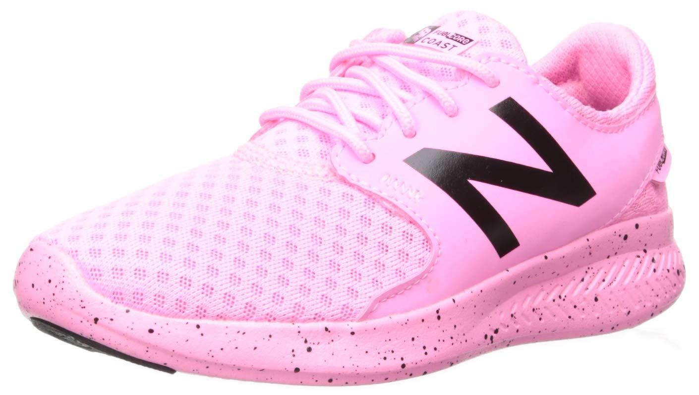 New Balance Girls Coast V3 FuelCore Running Shoe Violet glo//sea Salt 5 W US Big Kid