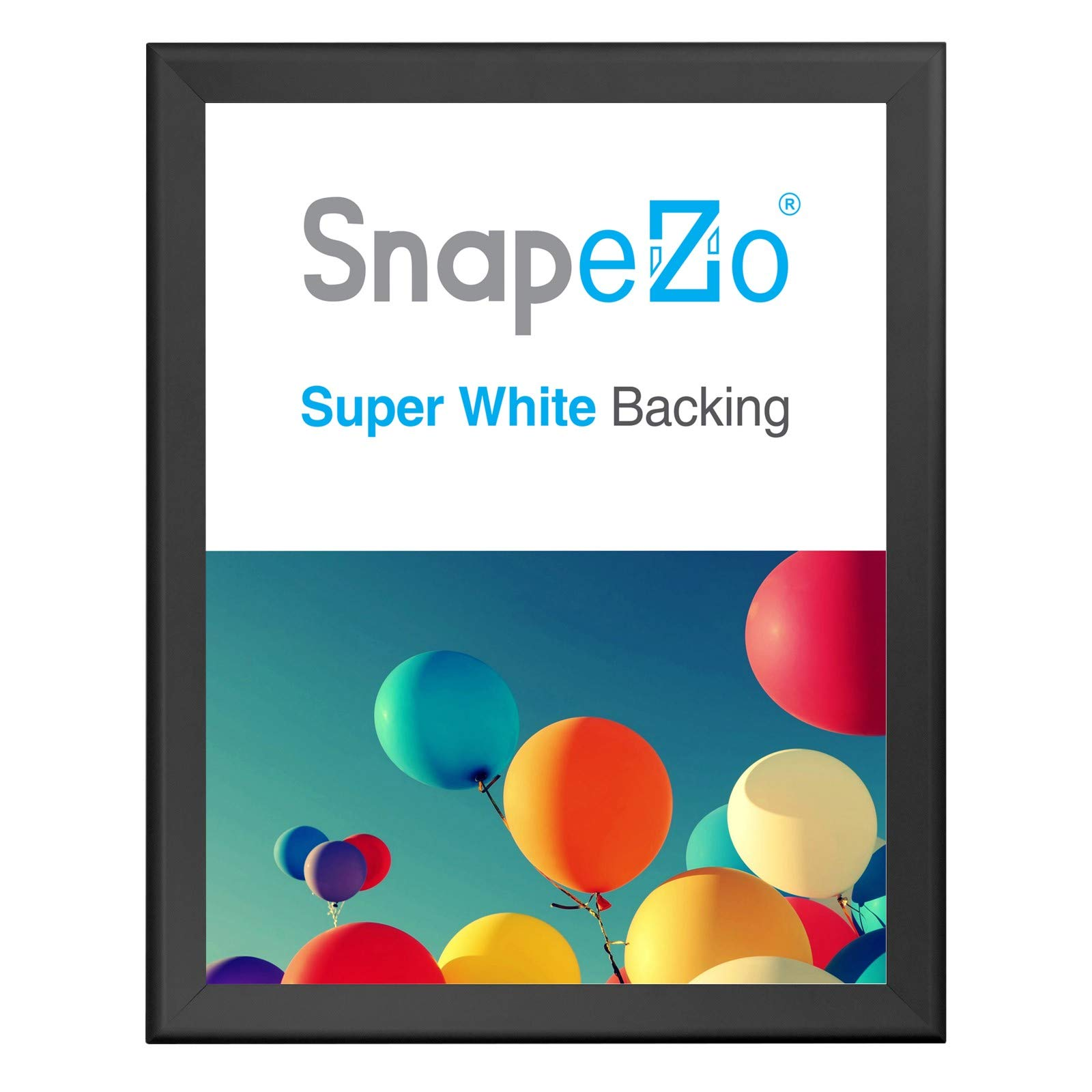 SnapeZo Poster Frame 36x48 Inches, Black 1.7 Inch Aluminum Profile, Front-Loading Snap Frame, Wall Mounting, Wide Series by SnapeZo
