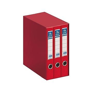 Dohe Archicolor - Módulo 3 archivadores A4, color rojo: Amazon.es: Oficina y papelería