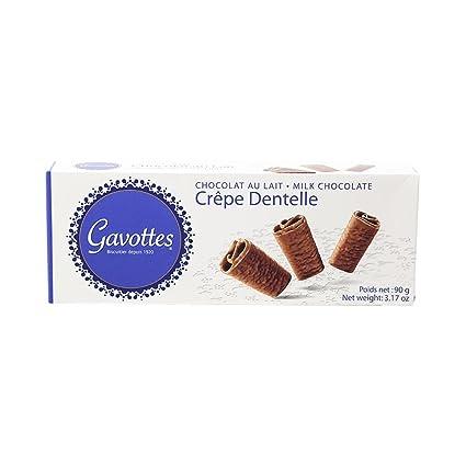 gavottes Crepe de Dentelle Chocolate con leche 18 ct: Amazon ...