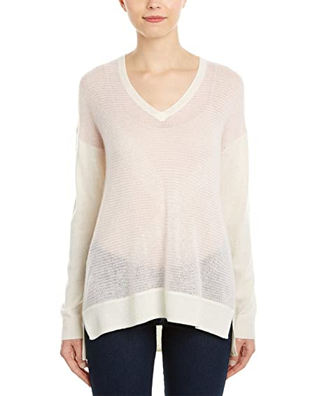Amazon.com: Vince Womens Striped Cashmere Sweater, XS, Pink: Clothing