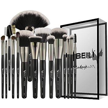 Amazon Com Beili Makeup Brushes 15 Pieces Pro Labeled Make Up Brush