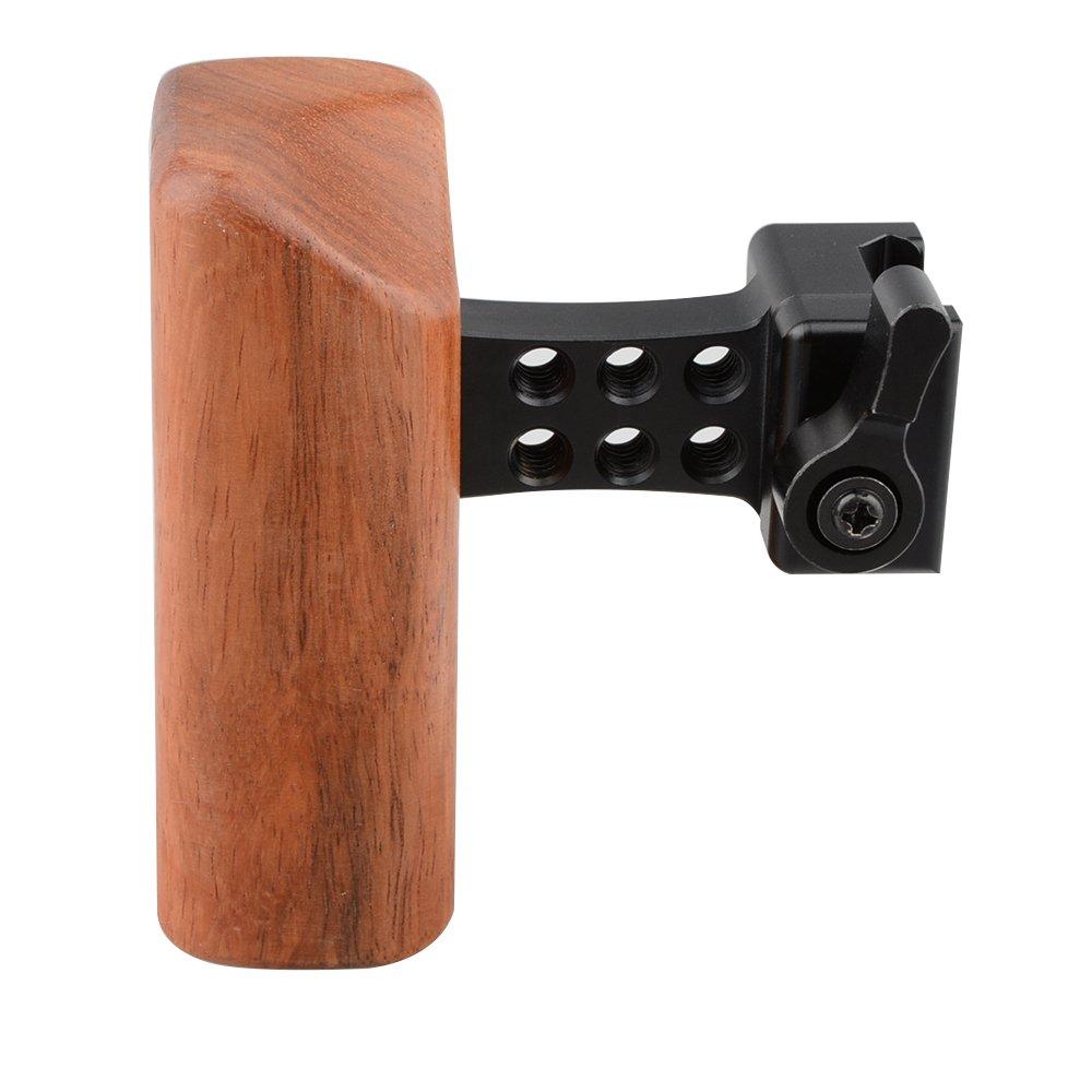 CAMVATE DSLR Wood Wooden NATO Handle Grip (Left hand)