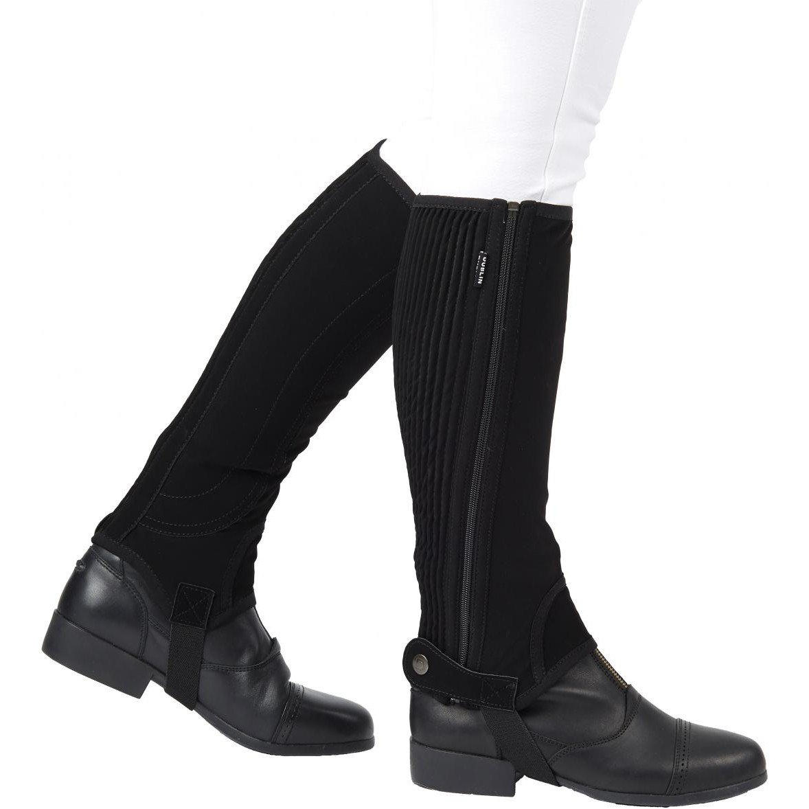 Dublin Childs Easy Care Half Chaps Medium Black