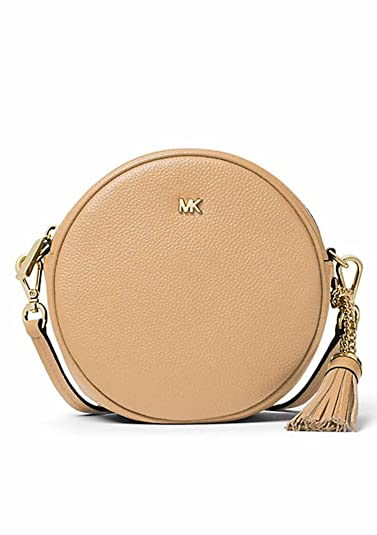 14a7ea75ebe6 Amazon.com  Michael Kors Medium Canteen Round Crossbody Bag Butternut  Shoes