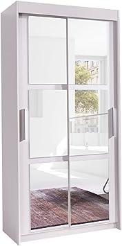 Armario cuadros 120, moderno Dormitorio Armario con espejo, 120 x 216 x 60 cm, elegante, Puerta corredera, Dormitorio Armario de puertas correderas: Amazon.es: Juguetes y juegos