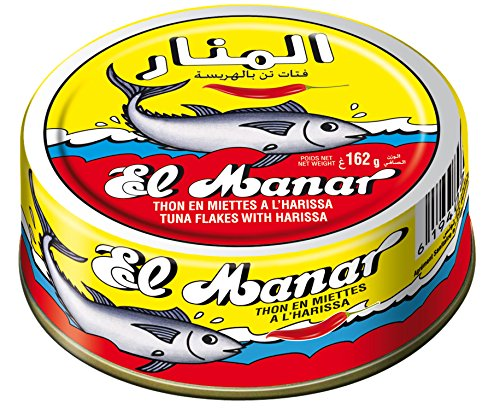 El Manar Tuna Flakes w/ Harissa 160g 10 Pack - Exclusive Tuna Fish