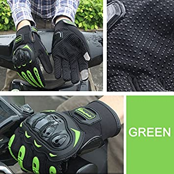 sportivi guanti da guida con dita intere LNK protezione per mountain bike e moto