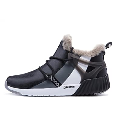 Men's Fur Lined Winter Snow BootsAnkle-High Sports Sneakers