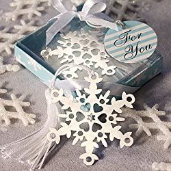 120 Snowflake Bookmark Favors