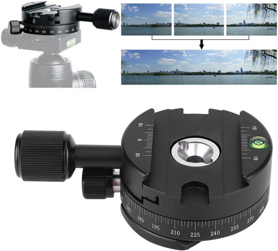 capacit/é de Chargement de 5 kg T/ête de tr/épied QJ-01 t/ête de tr/épied panoramique rotative en Alliage d/'Aluminium Durable /à 360 /° avec Niveau d/'/échelle pour Pince Arca Swiss