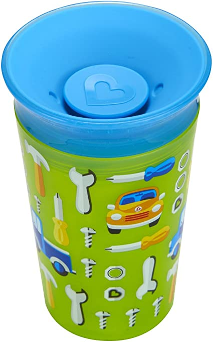 Munchkin Miracle 360 Degrees Deco Sippy Cup 9 oz//266 ml 266 Green Car