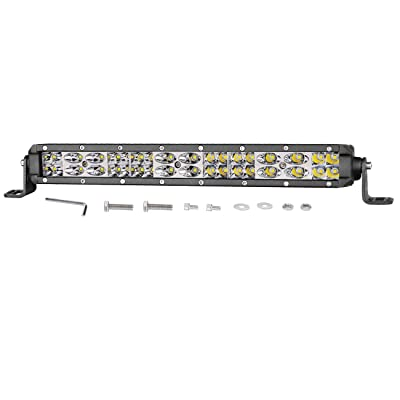 Led Light Bar 12 inch, Auto Power Plus 108W Ultra Slim Off Road Light Bar Dual Row Driving Fog Lights led work lights Waterproof led pod lights for Off Road Jeep Truck UTV ATV SUV Car: Automotive