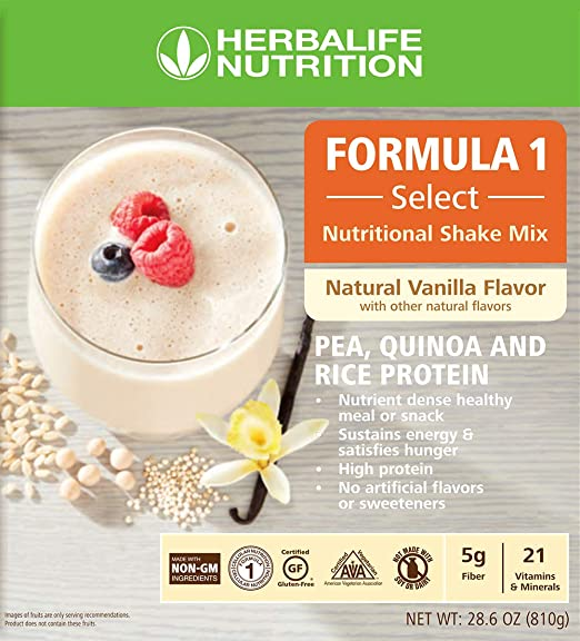 Amazon Nutritional Shake Mix Natural Vanilla Flavor 810 G W Protein Blend Of Pea Rice Quinoa Grocery Gourmet Food